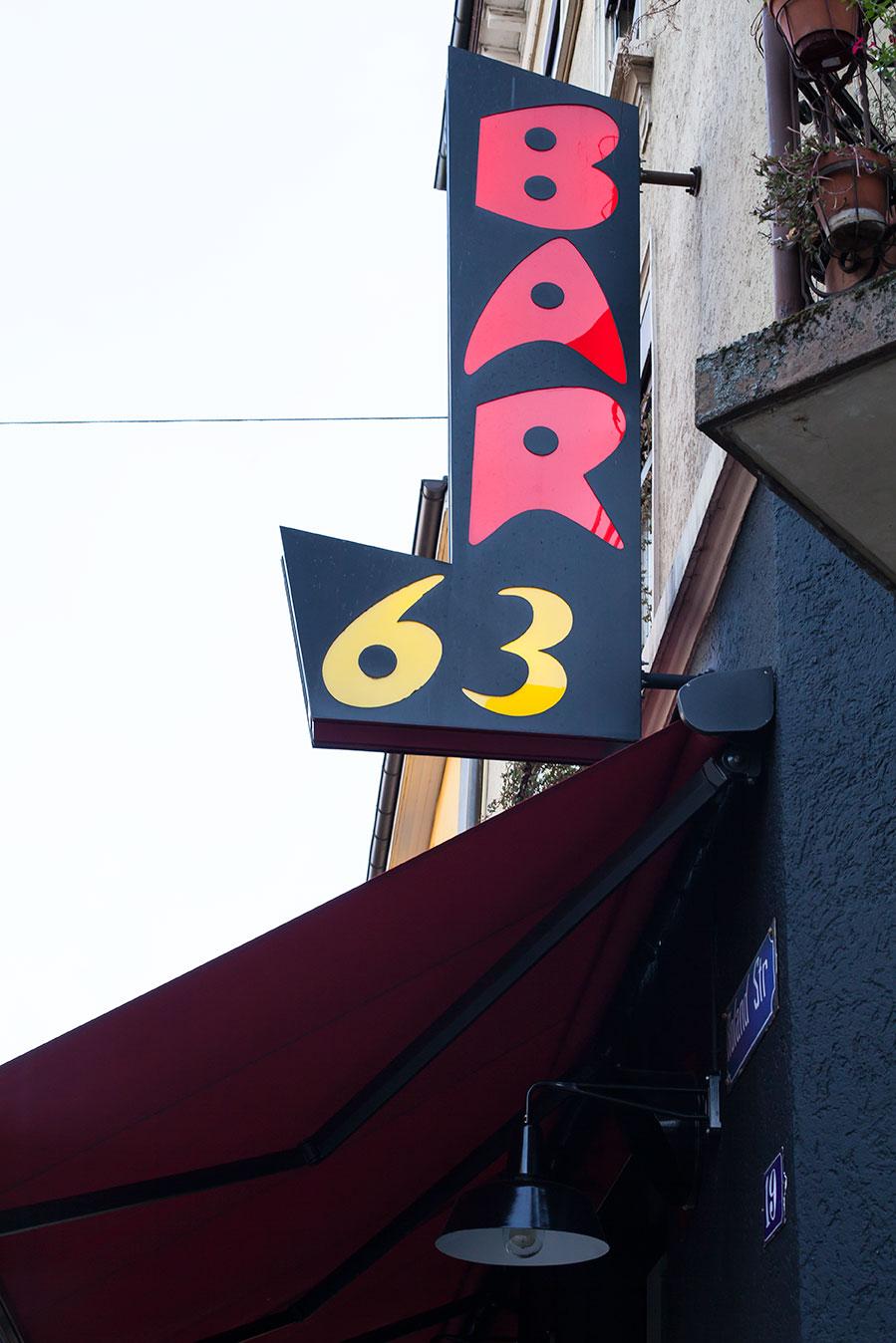 Exterior Bar 63 in Zurich