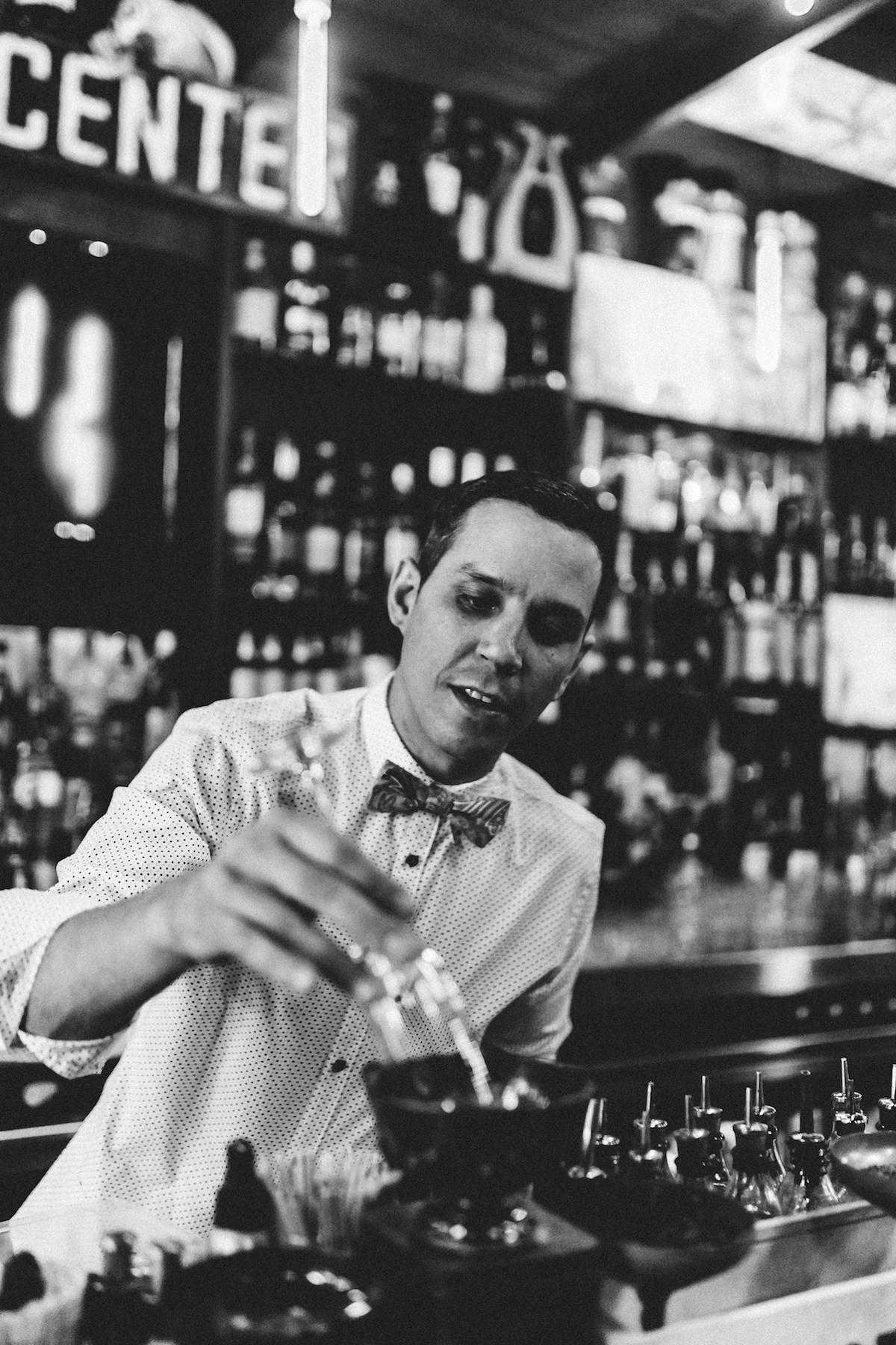 Portrait Keenan Hood at Keefer Bar in Vancouver
